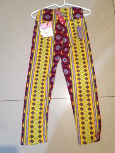 calzas de niñas estampadas de 3 a 5 años