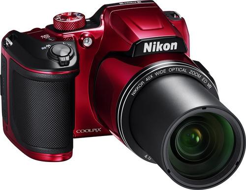 cam. nikon b500 16mp 40x zoom fullhd wifi roja !! nueva !!!