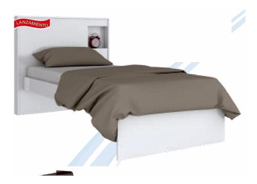 cama 1 plaza blanca  cuarto dormitorio camita hogar web