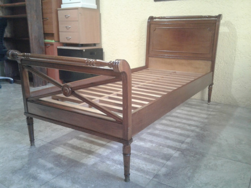 cama 1 plaza estilo inglés