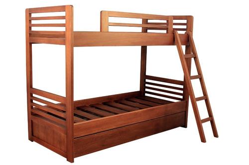 cama cucheta con marinera en madera de cedro/eucaliptus