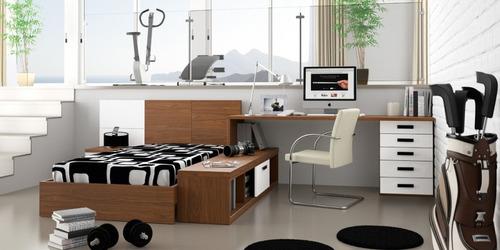 cama escritorio cajonera y estanteria directo de fabrica !