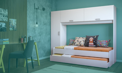 cama marinera con armario ropero 1 plaza