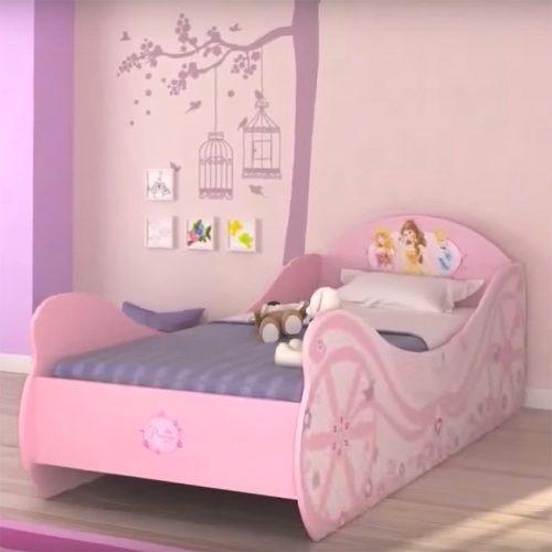 Tiendas Muebles Santander : Cama para niña con forma de carruaje princesas disney
