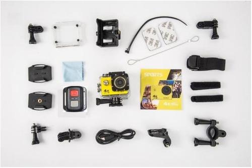 cámara accion 4k wifi c/remoto accesorios 16mp tipo gopro