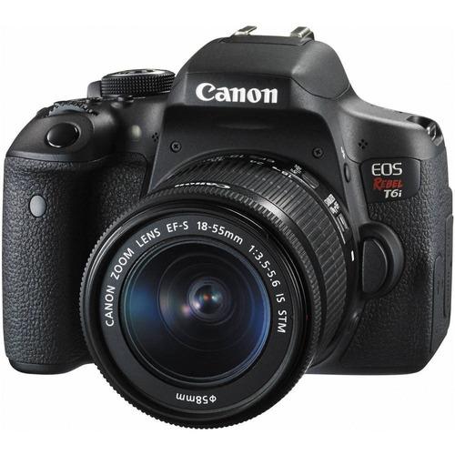 camara canon t6i, 18-55mm reflex 24mp wifi tactil 1080