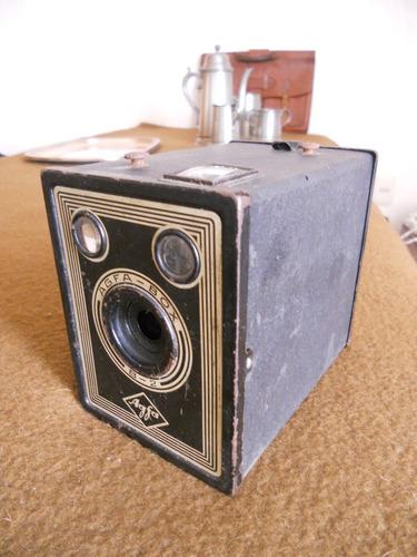 cámara de fotos box cajón antigua marca agfa buen estado