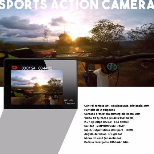 camara de fotos filmadora extremos sumergible con control