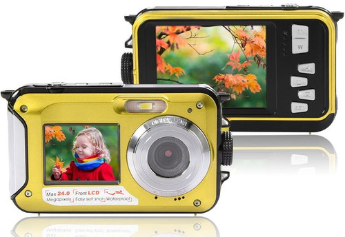camara deportiva sumergible 24mp doble pantalla hd flash 16x