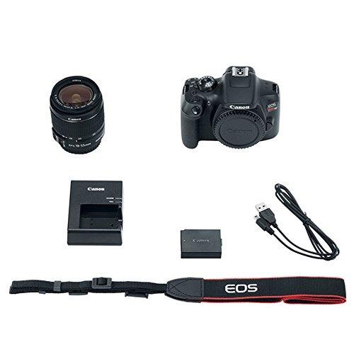 cámara digital canon eos rebel t6 con lente 18-55mm + flash