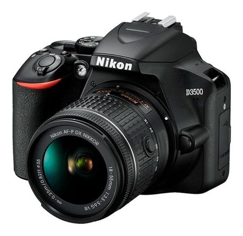 cámara digital nikon d3500 nikkor af-p 18-55 + 70-300 netpc