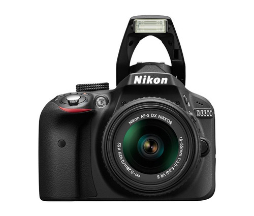 cámara nikon d3300 digital + lente 18-55mm tsuy