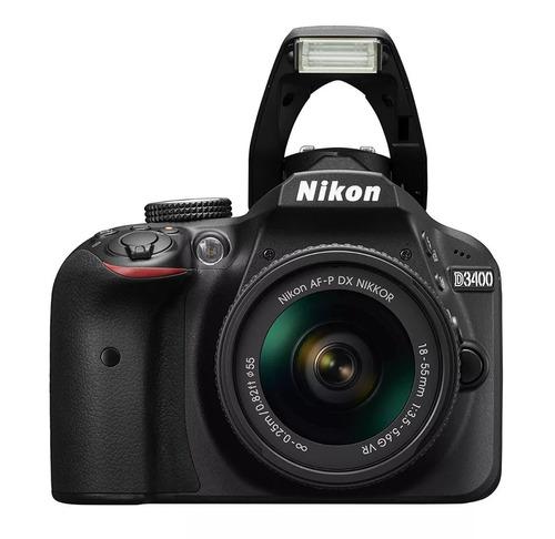 camara nikon d3400 c/bluetooth+lente 18-55 entrega inmediata