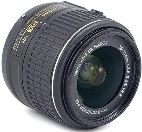 camara nikon d3400 con bluetooth + lente 18-55 + bolso