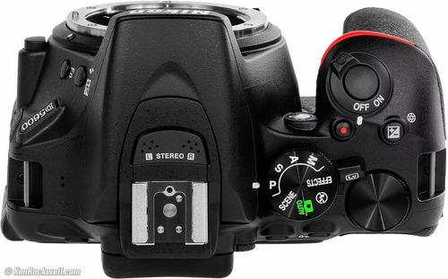 camara nikon reflex profesional 24mp wifi + lente 18-55 mmt