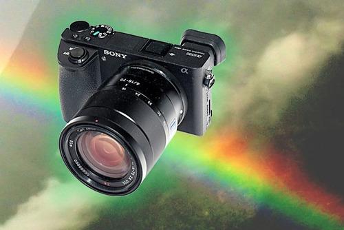 camara sony alpha a6500 mirrorless  + lente 18-135 filma 4k