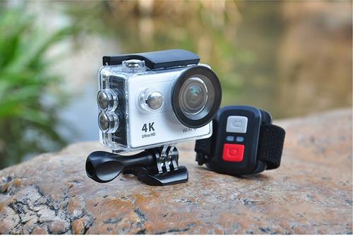cámara tipo go pro con control/sumergible ultra hd 4k + wifi