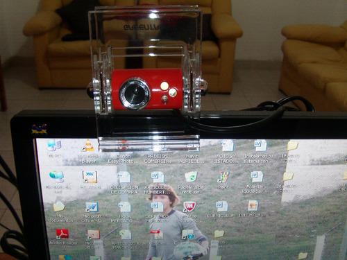 camara web clip crystal, con luz y zoom manual
