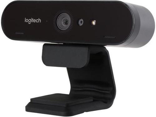 camara webcam logitech 4k uhd 30fps brio 960 videconferencia