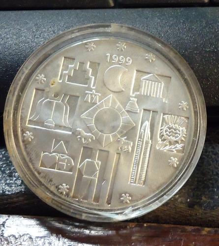 cambio de milenio moneda conmemorativa plata  $ 200