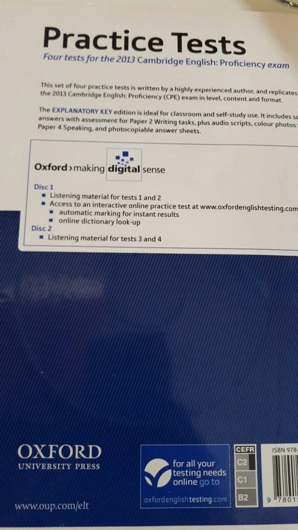 Cambridge English Proficiency Practice Test Oxford Audio - $ 1 990,00