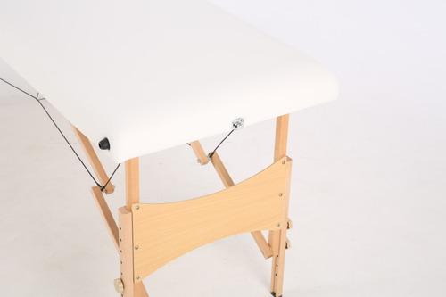 camilla de masajes plegable blanca - alta resistencia pro