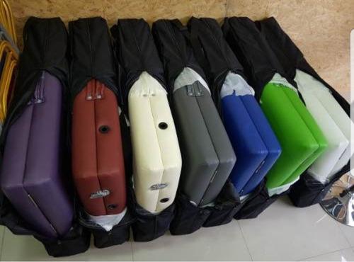 camilla masajes madera plegable profesional c/ bolso colores