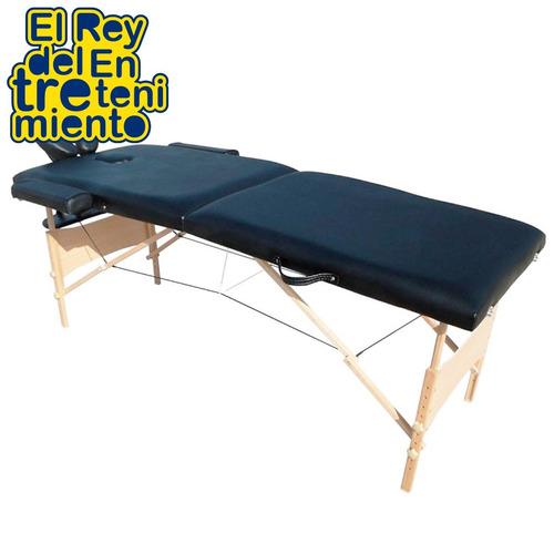 camilla para masajes madera portable 3 posiciones - el rey