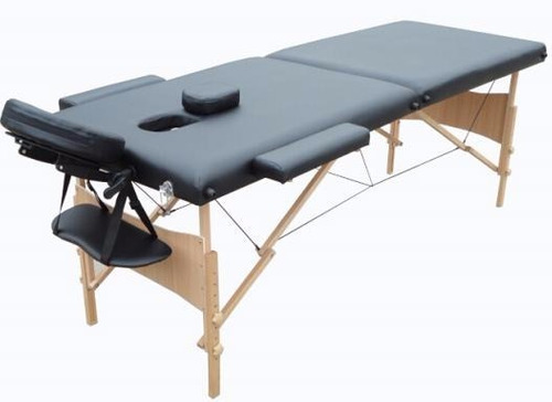 camilla plegable para masajes negra profesional sensacion