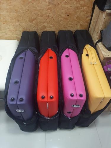 camilla plegable profesional masajes madera c/bolso colores