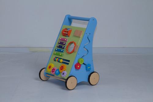 caminador bu chivita para bebé de madera pasitos