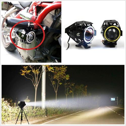 caminero proyector aro de angel led moto auto camión 18w