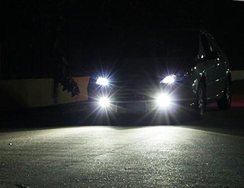 camineros led redondos 12v autos motos camionetas