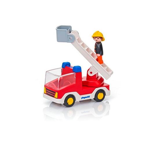 camion de bomberos con bombero  - playmobil
