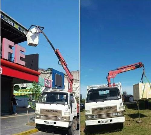 camion grua fletes transportes elevaciones