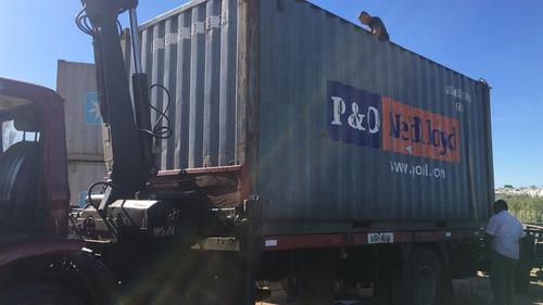 camion grua habilitado. contenedores 12 pies.