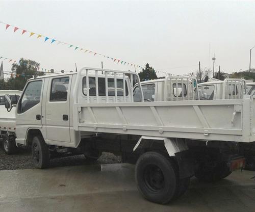 camion jmc doble cabina con volcadora grupo aler