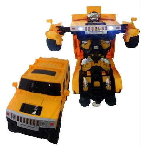 camioneta transformers a control remoto auto y robot - ub