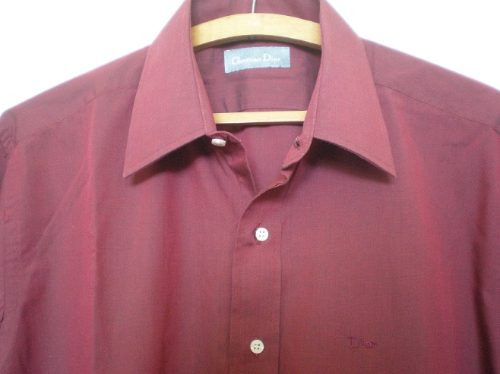 camisa christian dior original bordeaux talle 40 de bs as