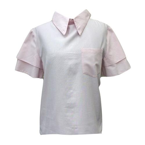 camisa dama manga volado palerush