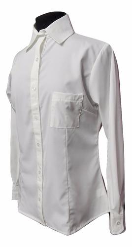 camisa dama tacuara algodón elastizada.lisas blancas y negra