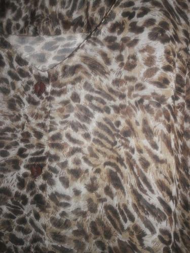 camisa de gasa animal print