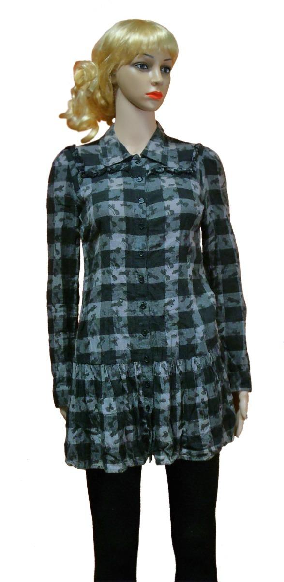 3f1ff62b80 camisa a cuadros mujer zoom de larga manga larga vestido tipo Cargando qqSHC