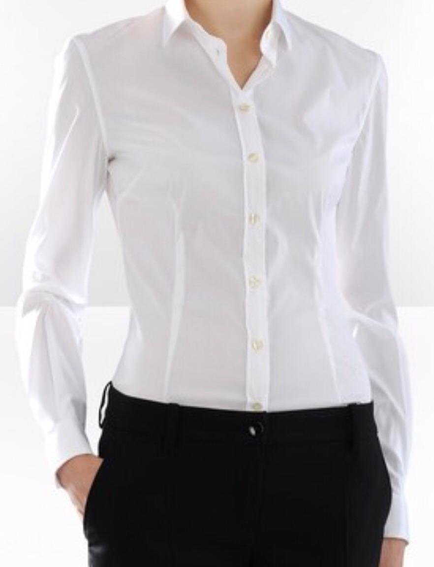 d6f22dca0ec1 Camisa De Vestir Ejecutiva Dama, Blanco, Celeste