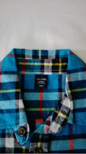 camisa gap a cuadros talle 12 a 18 meses impecable!!!