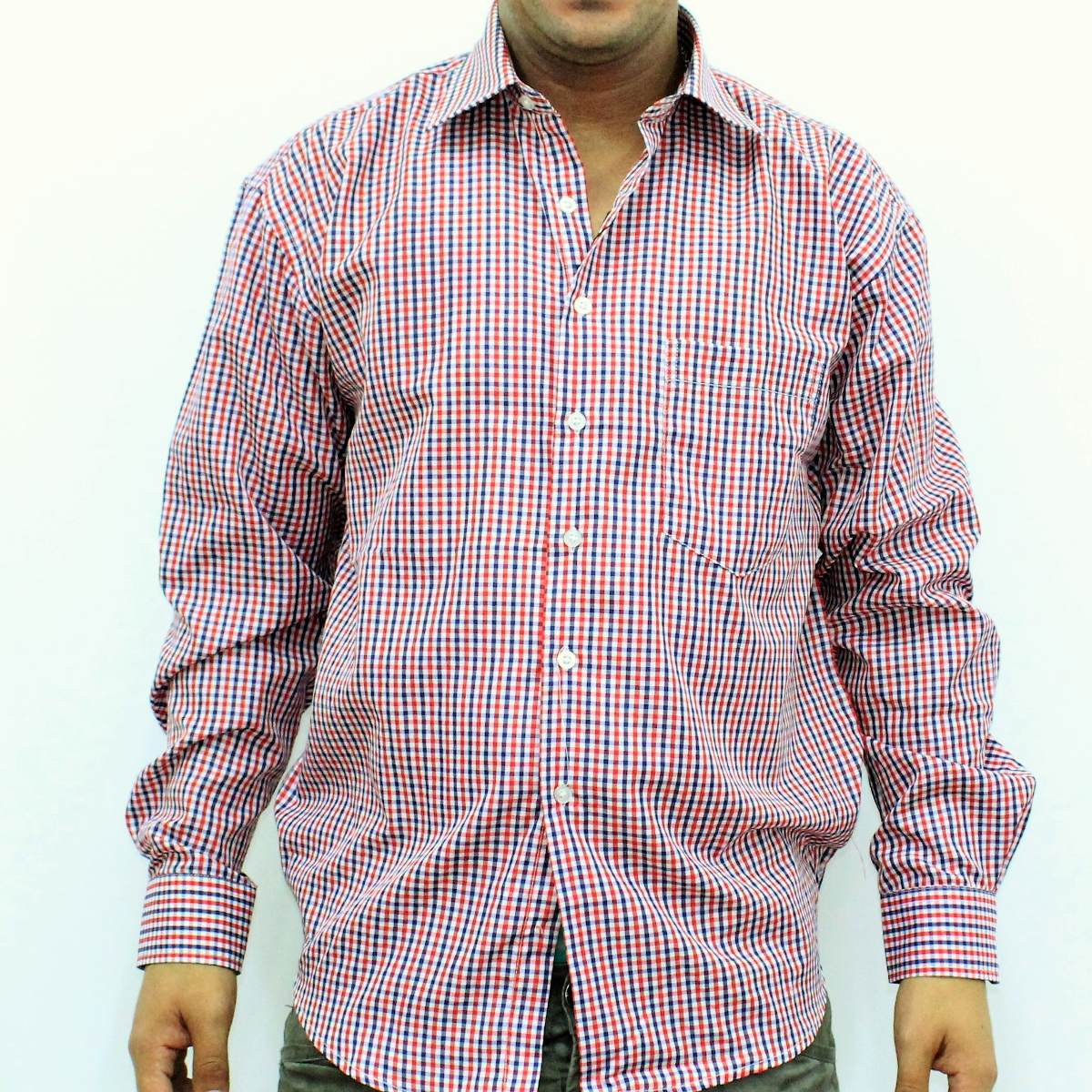 larga hombre todo Cargando cuadritos camisa roja zoom manga útil zSaca6FW 584e7e0ecc6