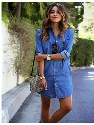 Vestido jeans tipo camisa
