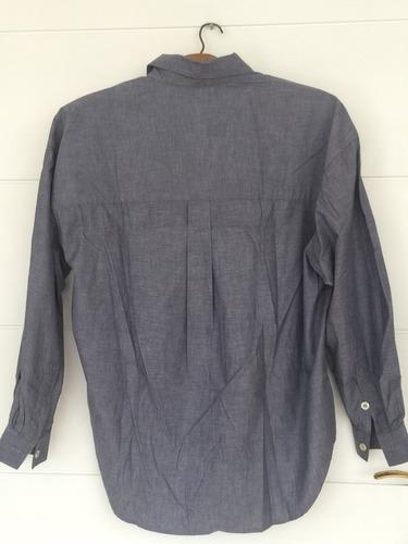 camisa jean azul liz sport talle m de usa divins dama