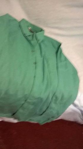 camisa joven color verde
