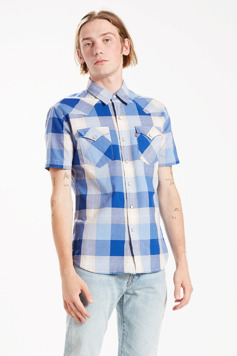 31a944538f camisa levi´s® hombre ss barstow western shirt. Cargando zoom.